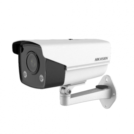 Hikvision (DS-2CD2T47G3E-L) 4mm 4MP ColorVu Fixed Bullet Network Camera - HD Video - White