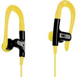Promate Glitzy Universal Sportt Clip-On Stereo Gear-Buds - Built-In Mic - Yellow