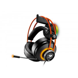 Cougar (CGR-XXNB-HS1 RGB) BUNKER S Modular Gaming Headset Suction-Cup Stand - Orange on Black - RGB