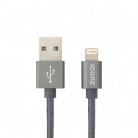 ICONZ (IMCP12T) Durable LIGHTNING to USB Synch Cable - 1.2m - Titanium