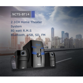 NCTS (NCTS-BT14) 2.1 Bluetooth Home Theatre System (80W RMS) - Black
