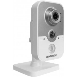 Hikvision (DS-2CD2442FWD-IW) 2.8mm IR Cube Network Camera 4MP- 2688x1520@20f[s - F2.0 lens - White