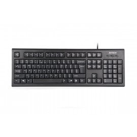 A4Tech (KR-85) ComfortKey USB Keyboard with Round Edged Keycaps -  Arabic Support - Black