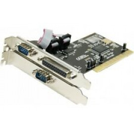 STLab I-410 PCI 2P Controller Card - 2x DB25 Rear Parallel Ports - Black